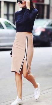 Modelos e looks diferentes com saia.